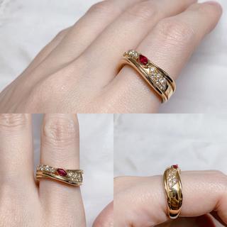 POLA - POLA k18  ルビー ダイヤモンド 指輪