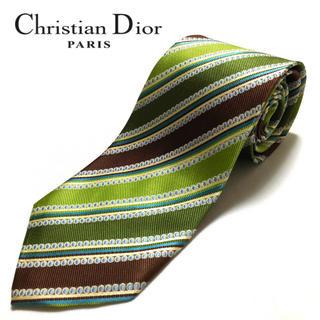 クリスチャンディオール(Christian Dior)の【美品】Christian Dior ネクタイ フランス製 ハンドメイド(ネクタイ)