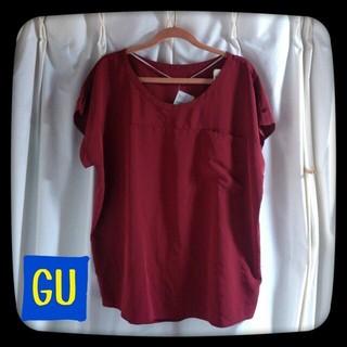 ジーユー(GU)の【新品】GU ゆるTブラウス(シャツ/ブラウス(半袖/袖なし))