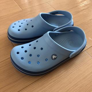 crocs - 日曜日までお値下げ!水色 クロックス