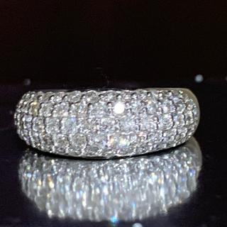 美品❗️プラチナ 1ct パヴェダイヤリング プラチナリング(リング(指輪))