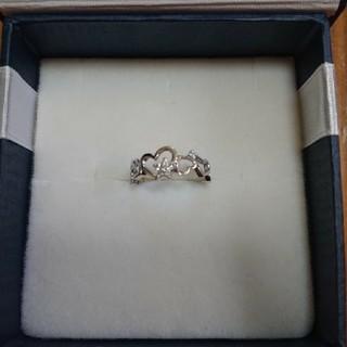 ジュエリーツツミ(JEWELRY TSUTSUMI)のツツミ ピンキーリング ダイヤモンド ゴールド シルバー ハート(リング(指輪))