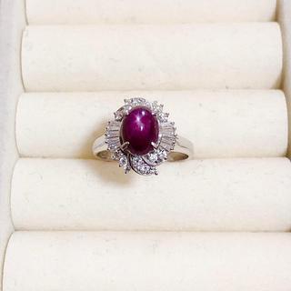 指輪 石3.46ct メレダイヤ0.47ct プラチナ900(リング(指輪))