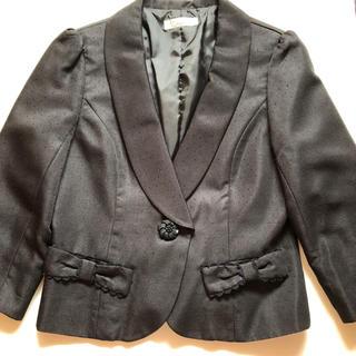 しまむら - 【美品】黒♡ジャケット♡リボン♡フリル