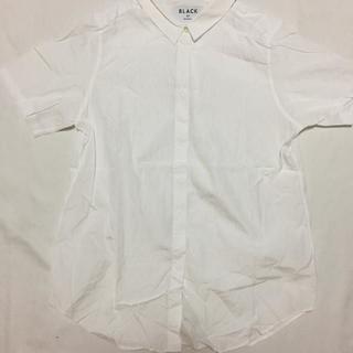 ブラックバイマウジー(BLACK by moussy)のBLACKbyMoussy白シャツ(シャツ/ブラウス(半袖/袖なし))