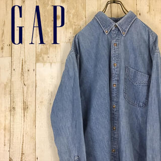 GAP - 【激レア】オールドギャップ GAP ポケット付き デニムシャツ USA製