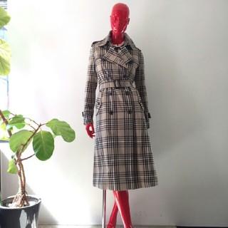 DOUBLE STANDARD CLOTHING - ダブルスタンダードクロージング 先染めチェックトレンチコート