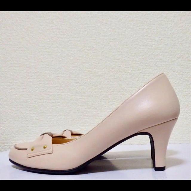 DIANA(ダイアナ)の22.5cm*新品同様*DIANA WELL FIT 牛革ミドルヒール パンプス レディースの靴/シューズ(ハイヒール/パンプス)の商品写真