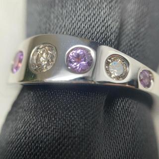 柏圭 k18WG  ピンクサファイア ダイヤモンド リング(リング(指輪))