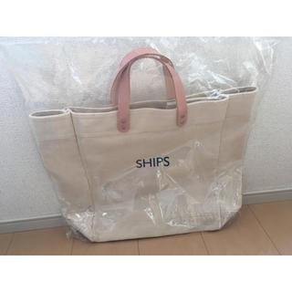 SHIPS - シップス ヤナセ 本革 キャンバストートバッグ ships