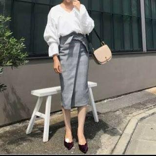 エイチアンドエム(H&M)のH&M グレンチェック タイトスカート(ひざ丈スカート)