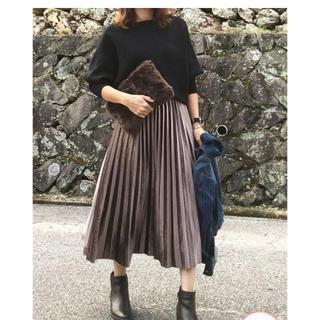 dholic - ディホーリック♡ブラウンプリーツスカート未使用