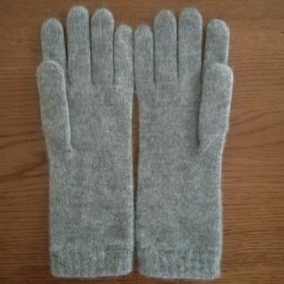 ジョンストンズ(Johnstons)のジョンストンズ カシミヤグローブ ライトグレー(手袋)