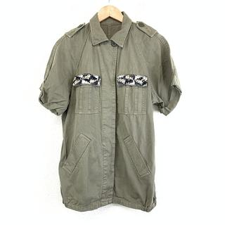 GRACE CONTINENTAL - 美品 グレース コンチネンタル レディース アーミーシャツ カーキ シャツ 羽織