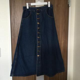アナップ(ANAP)の心愛ママさん専用 ANAP ボタン デニムロングスカート(ロングスカート)