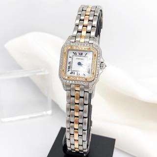 Cartier - 【仕上済】カルティエ パンテール SM コンビ 1ロウ ダイヤ 腕時計
