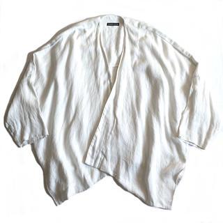 希少90s SHIRIN GUILDシリンギルド 羽織りジャケット リネンコート(ガウンコート)
