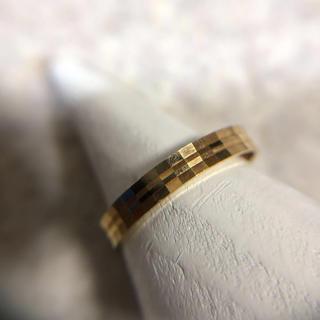 k18 デザインリング 刻印あり 約13号 1.33グラム 指輪 中古品(リング(指輪))