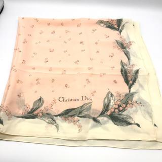 クリスチャンディオール(Christian Dior)の美品★クリスチャン ディオールのスカーフ★スズラン柄(バンダナ/スカーフ)
