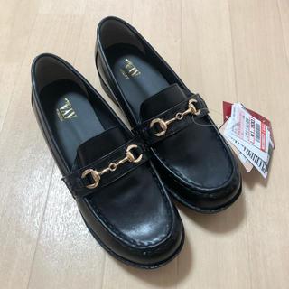 シマムラ(しまむら)のプチプラのあや しまむら ローファー 黒 ブラック 3L 新品 タグ付き(ローファー/革靴)