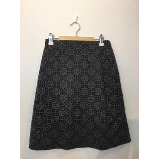 ①noue-rue花柄裾フリルスカート #Cattleya(ひざ丈スカート)
