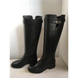 ジミーチュウ(JIMMY CHOO)の試着のみ 美品 ジミーチュウ ロングブーツ 35.5 ブラック(ブーツ)