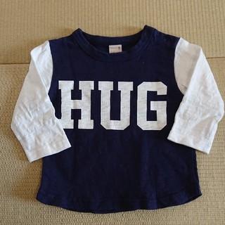 プティマイン(petit main)の男の子ロングTシャツ  90(Tシャツ/カットソー)