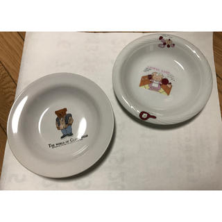 アフタヌーンティー(AfternoonTea)の【美品】キャラクターお皿 クマと豚 2点セット(食器)