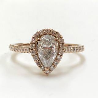 K18 ペアシェイプダイヤモンドリング(リング(指輪))