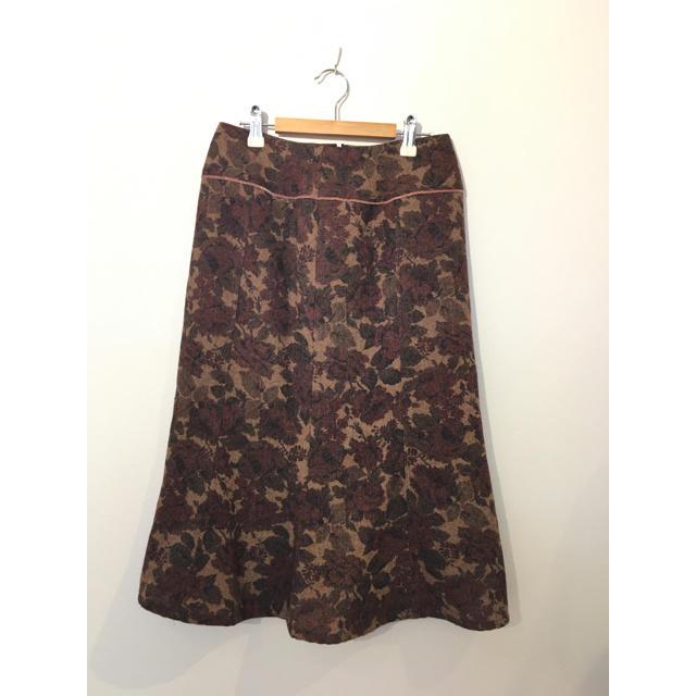 OLIVEdesOLIVE(オリーブデオリーブ)の⚫︎オリーブデオリーブ ニット花柄裾フリルスカート #Cattleya レディースのスカート(ロングスカート)の商品写真