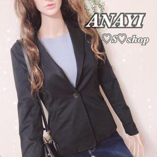 アナイ(ANAYI)のANIYI テーラードジャケット ブラック 黒(テーラードジャケット)