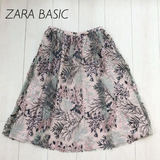 ZARA - ZARA 刺繍 チュールスカート