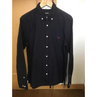 BURBERRY BLACK LABEL - BURBERRY BLACK LABEL バーバリーシャツ 紺色