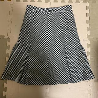 ミッシェルクラン(MICHEL KLEIN)のmichel klein 千鳥柄 スカート 36(ひざ丈スカート)