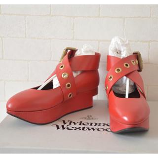 ヴィヴィアンウエストウッド(Vivienne Westwood)のVivienne Westwood ロッキンホース バックル バレリーナ 36(ローファー/革靴)