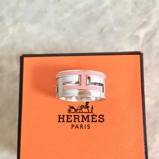 エルメス(Hermes)の正規品 エルメス 指輪 ムーブアッシュ シルバー ピンク SV925 H リング(リング(指輪))