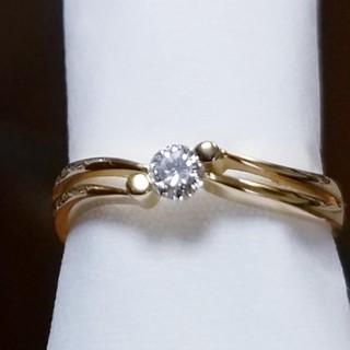 18金一粒ダイヤモンドリング(リング(指輪))