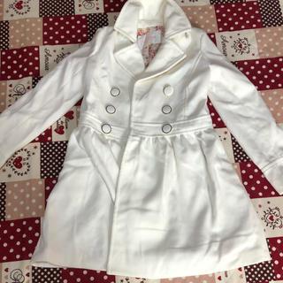 リズリサ(LIZ LISA)の新品未使用 リズリサ  ホワイト コート 花柄(ロングコート)