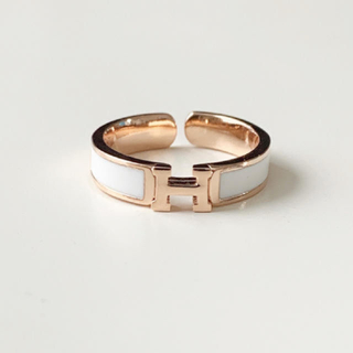 H モチーフ リング ピンクゴールド シルバー(リング(指輪))