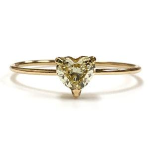 K18 ハートダイヤモンドリング(リング(指輪))
