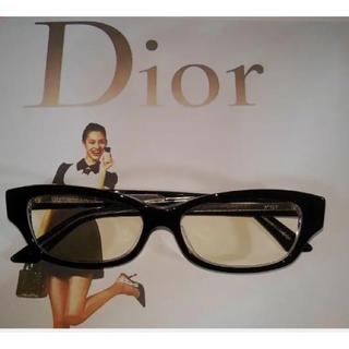 クリスチャンディオール(Christian Dior)のChristian DIOR眼鏡フレーム【極美品】(サングラス/メガネ)