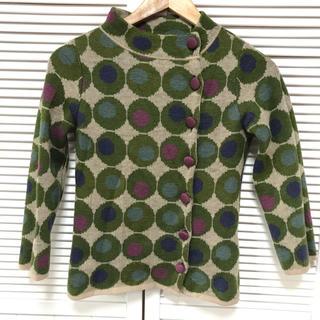 Jocomomola - Jocomomolaの色とりどりドット柄セーター★サイズ40ホコモモラ