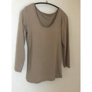 UNIQLO - ヒートテック ブラUネックTシャツ ブラトップ ナチュラル