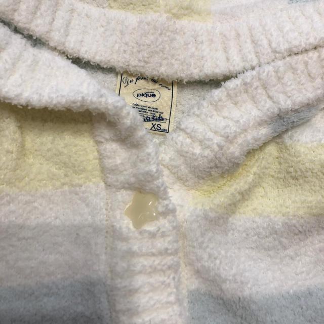 gelato pique(ジェラートピケ)のジェラートピケ フード付きポンチョ xs キッズ/ベビー/マタニティのキッズ服 女の子用(90cm~)(ジャケット/上着)の商品写真