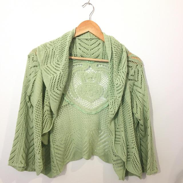 ①LaoTarga 透かし編みフリルカーディガン  #Cattleya  レディースのトップス(カーディガン)の商品写真