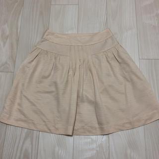プーラフリーム(pour la frime)のベージュスカート  Sサイズ(ひざ丈スカート)