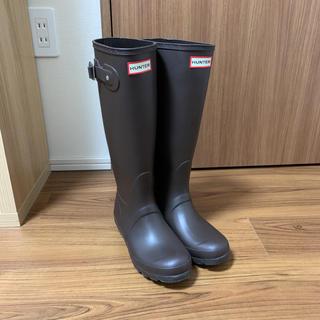 ハンター(HUNTER)のHUNTER ハンター ダークブラウン レインブーツ 長靴 37 23.5cm(レインブーツ/長靴)