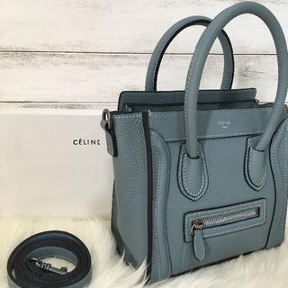 celine - ♧CELINE♧セリーヌ ラゲージナノ ライトブルー ハンドバッグ/ショルダー