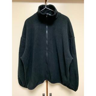 ダブルクローゼット(w closet)の美品 ダブルクローゼット ビッグシルエットフリースジャケット 黒(ブルゾン)
