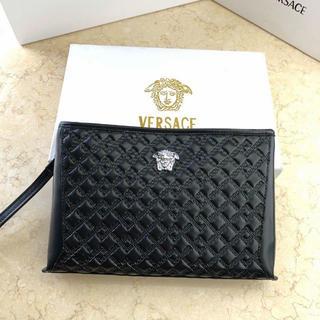 ヴェルサーチ(VERSACE)のVersace クラッチバッグ ブラック(セカンドバッグ/クラッチバッグ)